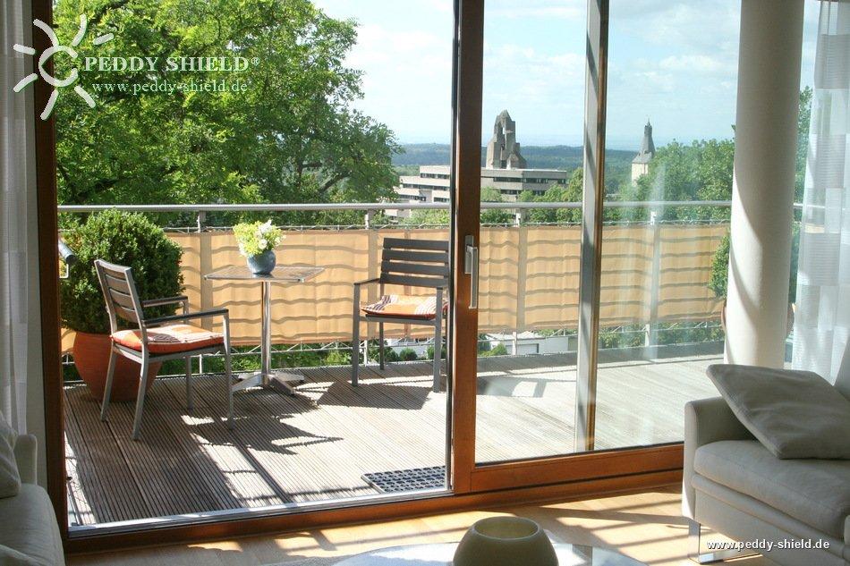 balkonverkleidung 75 x 500 cm farbe uni sisal beige. Black Bedroom Furniture Sets. Home Design Ideas