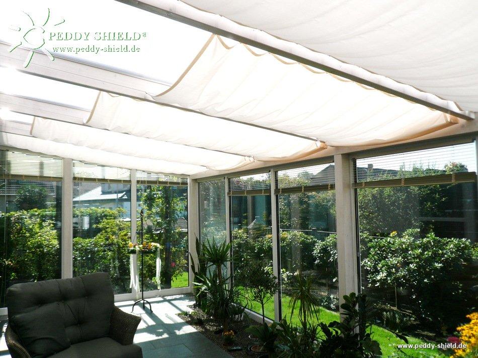 sonnensegel wintergarten, fotogalerie - sonnensegel wintergarten - 96 x 330 cm - uni weiß mit, Design ideen