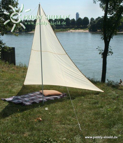 camping freizeit sonnensegel 1 3 x 3 x 2 5 m sandfarben. Black Bedroom Furniture Sets. Home Design Ideas