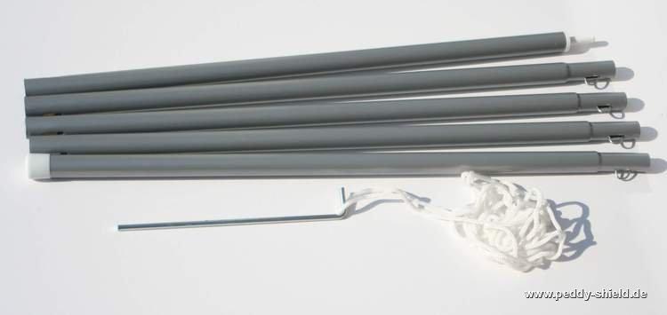 metall stange aufstellung sonnensegel im garten. Black Bedroom Furniture Sets. Home Design Ideas