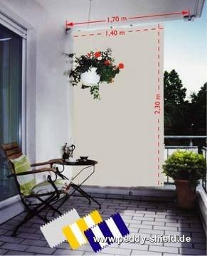 senkrecht sonnensegel 230x140 cm uni weiss komplett mit seilspanntechnik universal. Black Bedroom Furniture Sets. Home Design Ideas