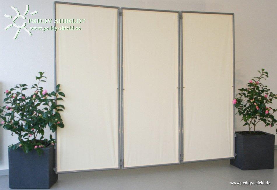 3x paravent rahmen faltbarer sichtschutz paravent. Black Bedroom Furniture Sets. Home Design Ideas