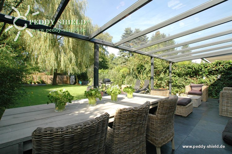 sonnensegel glasdach 88 x 380 cm uni hell elfenbein. Black Bedroom Furniture Sets. Home Design Ideas