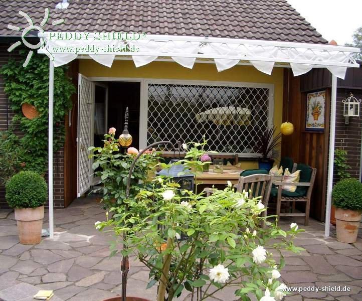 sonnensegel wintergarten 96 x 330 cm uni wei. Black Bedroom Furniture Sets. Home Design Ideas