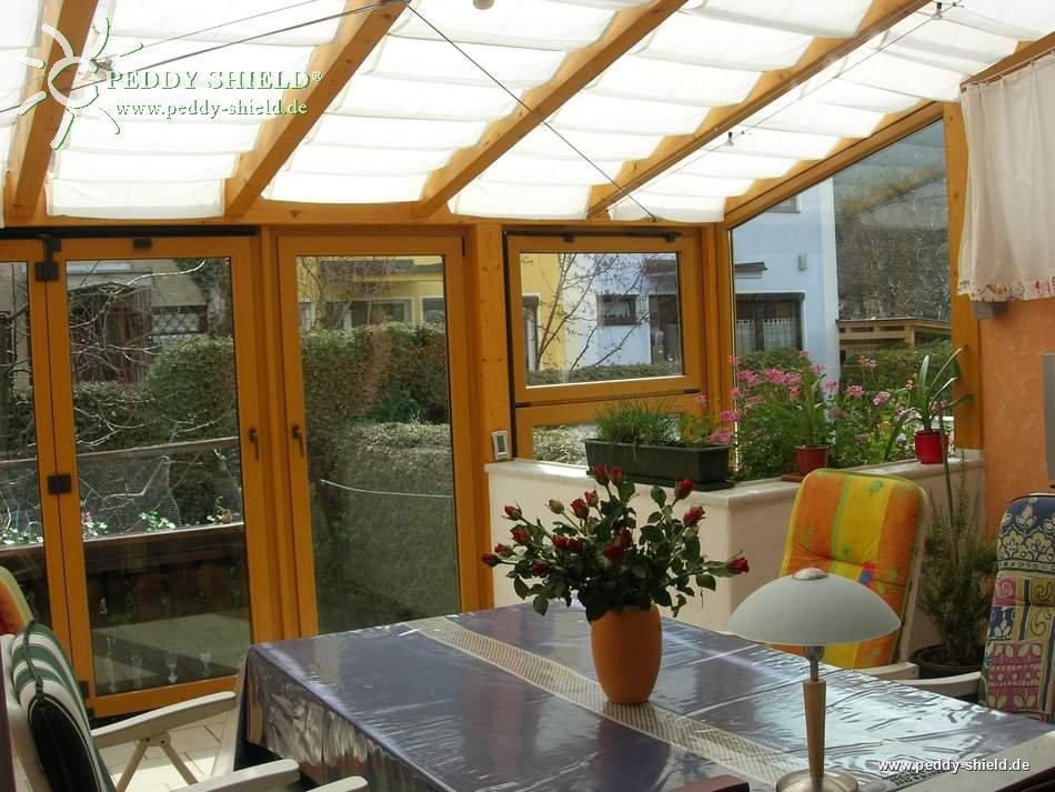 sonnensegel wintergarten 96 x 275 cm uni hell elfenbein mit 26 x laufhaken 2 x. Black Bedroom Furniture Sets. Home Design Ideas