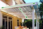 Sonnensegel in seilspanntechnik oder sonnensegel konkav mit spanngurten - Beschattung wintergarten seilspann ...