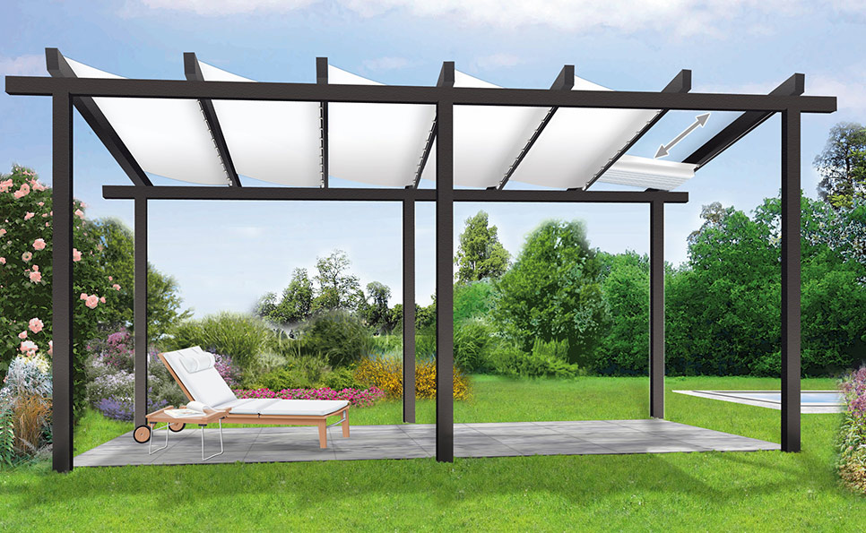 sonnenschutz mit einer pergola. Black Bedroom Furniture Sets. Home Design Ideas